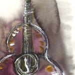 Guitarra Morada, pintura de Jorge Cardenas Aceves