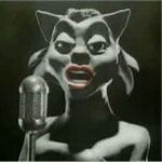 Nina Simone como una gatita negra