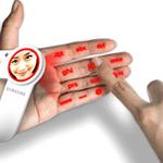 Teclado en la mano