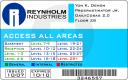 Reynholm Industries id card