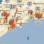 WikiCrimes, mapa de denuncias