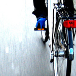 Copenhaguen Cycle Chic: Blue & Pink
