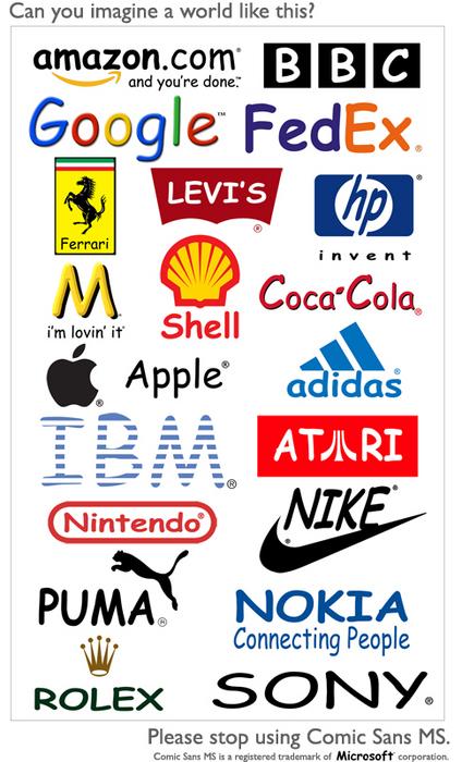 Comic Sans brand world