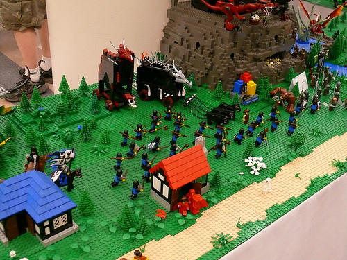 The Spanish Inquisition on LEGO diorama