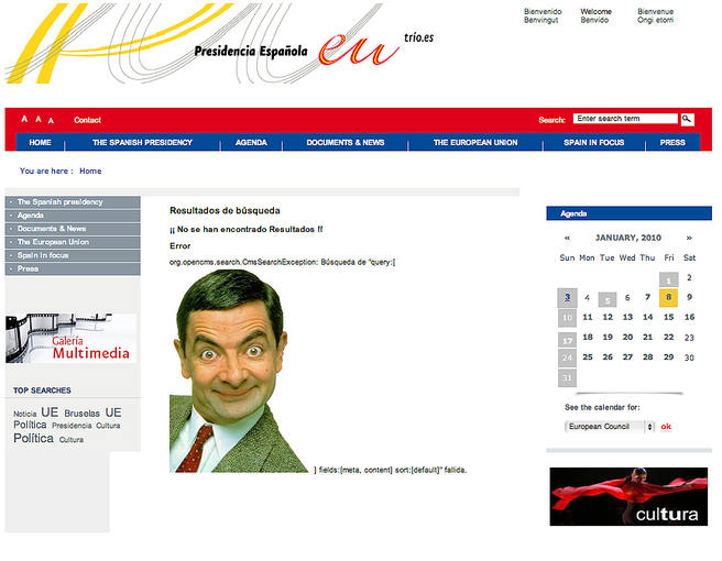 Mr Bean en eu2010.es