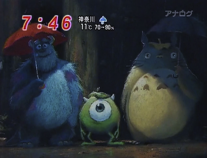 Totoro and Monsters Inc.