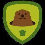 Groundhog 4sq Badge