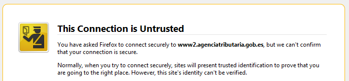 FNMT Untrusted on Firefox